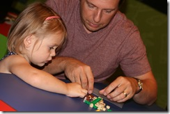 Clara and Daddy legos 2